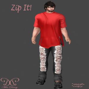 Miss Darcy - Zip It! Homme  - Red